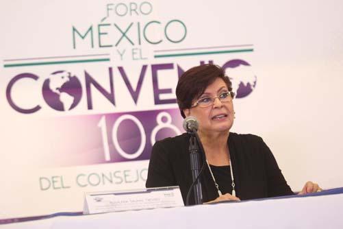 """Dra. Rosalinda Salinas Treviño asiste al """"Foro México y el Convenio 108 del Consejo de Europa"""""""