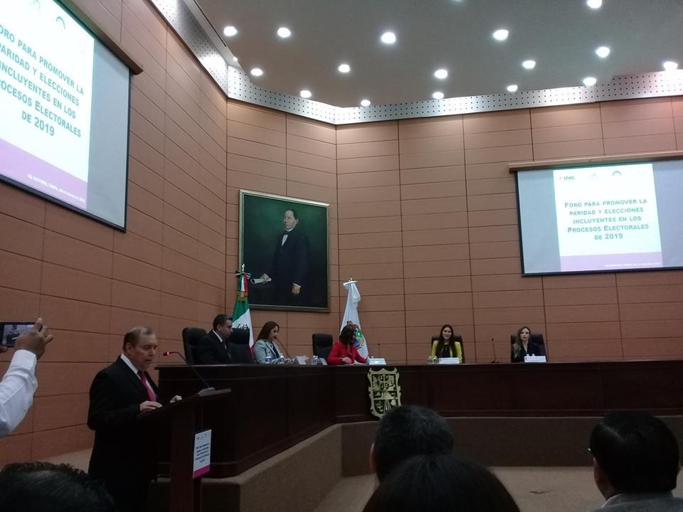 """ITAIT asiste al """"Foro para promover la Paridad y Elecciones Incluyentes en los Procesos Electorales de 2019"""""""