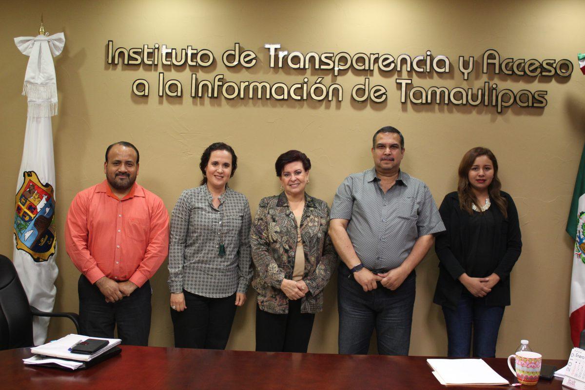 Dra. Rosalinda Salinas Treviño, se reúne con el Presidente del Comité de Participación Ciudadana