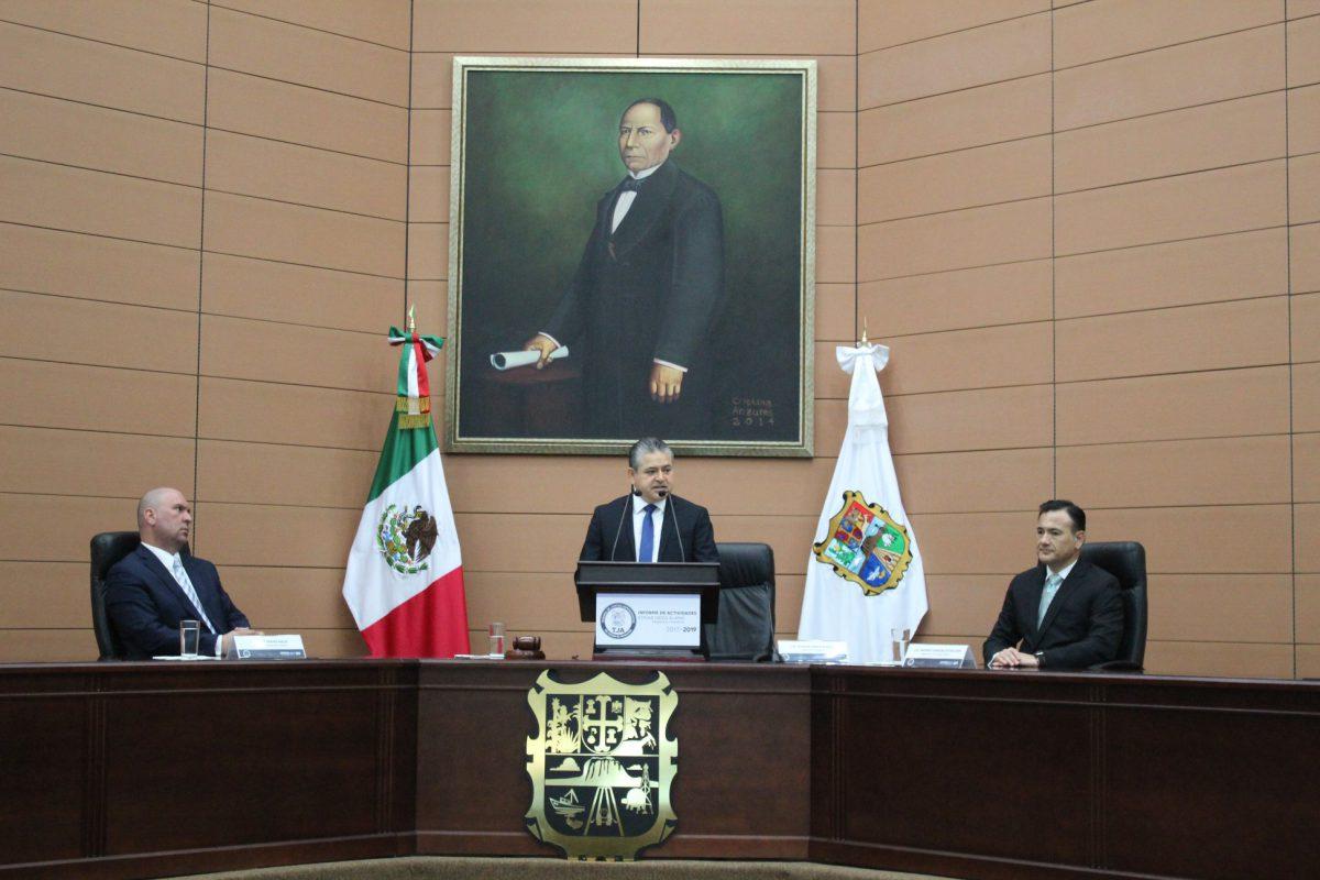 Dra. Rosalinda Salinas Treviño, asiste al informe de labores 2017-2019 del Tribunal de Justicia Administrativa del Estado de Tamaulipas.