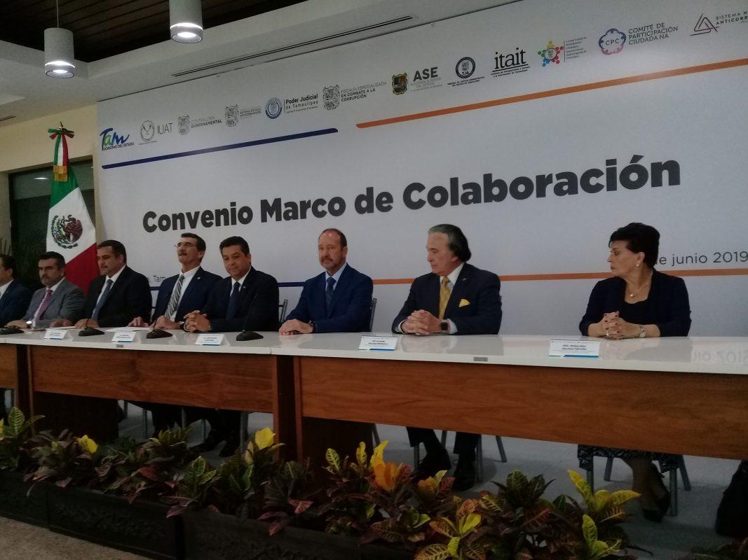 ITAIT participa en firma de convenio de colaboración: Sistema Estatal Anticorrupción – Universidad Autónoma de Tamaulipas.