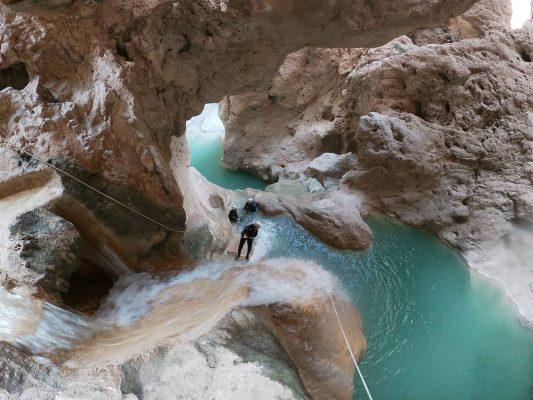 Caverna con agua dentro
