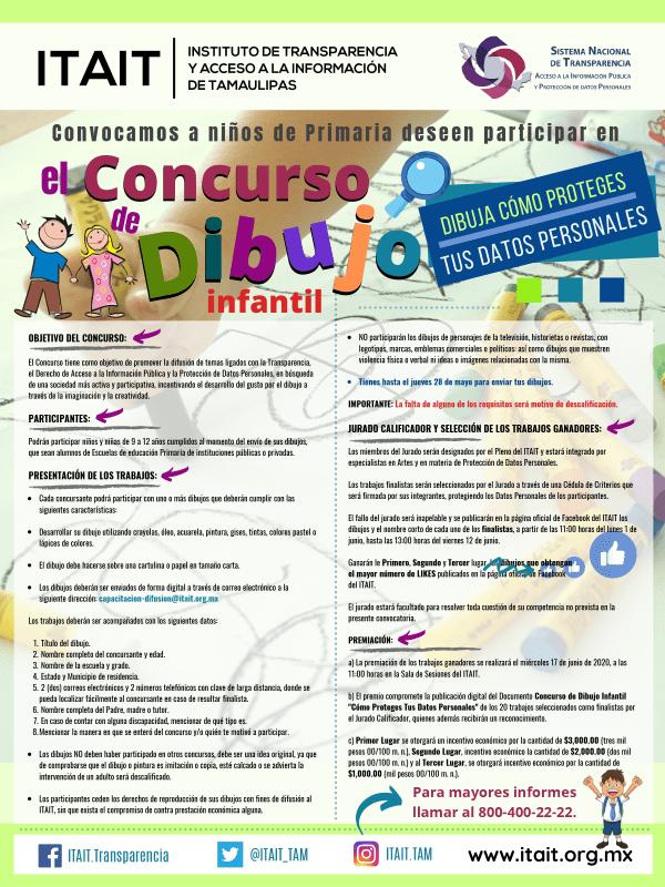 Convoca ITAIT al Concurso de Dibujo Infantil 'Niños Construyendo Transparencia'