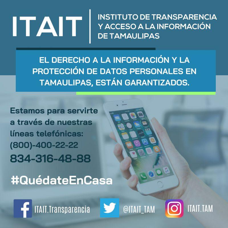 Los Derechos de Acceso a la Información y de Protección de Datos Personales están garantizados.
