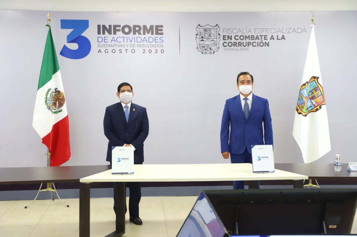 Asiste el Comisionado Presidente al 3er Informe de la Fiscalía Especializada de Combate a la Corrupción.