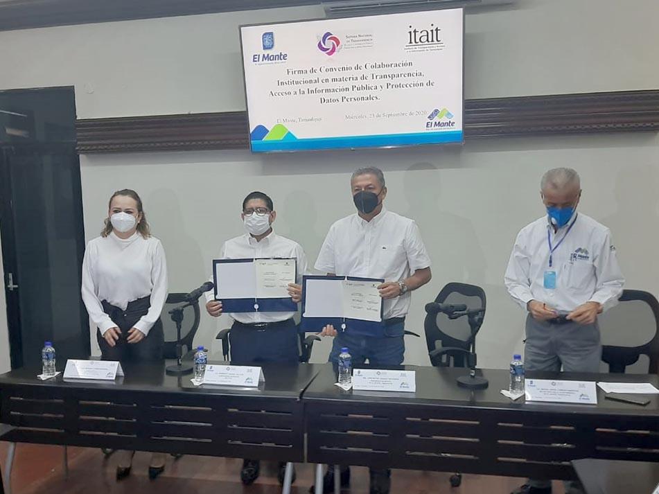 ITAIT y el Municipio de El Mante firman acuerdo en favor del Derecho a la Información y la Transparencia