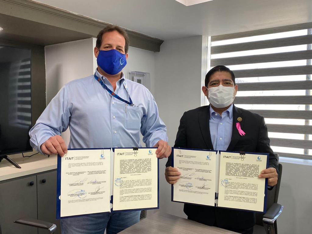 ITAIT y COMAPA Nuevo Laredo acuerdan trabajar juntos en la difusión de la Cultura de la Transparencia