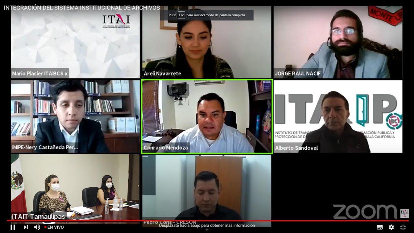 Encabeza Pleno del ITAIT la Segunda Sesión de Capacitación en materia de Archivos y Gestión Documental del SNT