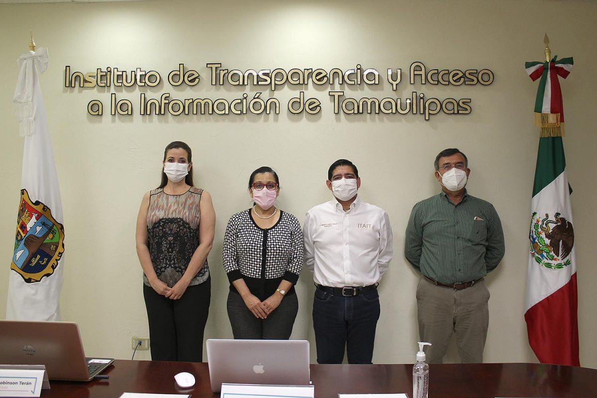 Comisionados del ITAIT se reúnen con la Presidenta de la Federación Tamaulipas de la COPARMEX