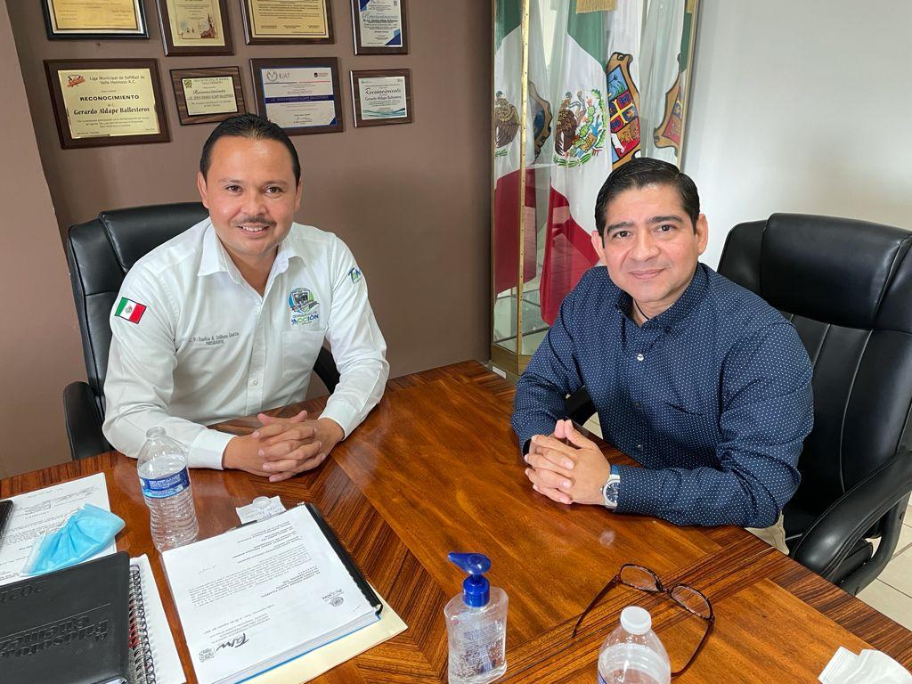 Comisionado Presidente se reúne con el Alcalde de Valle Hermoso para impulsar acciones a favor de la transparencia